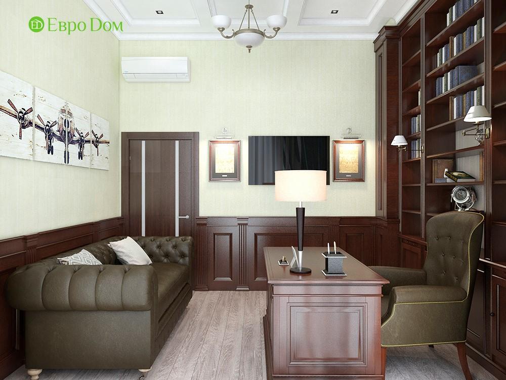 Дизайн коттеджей, фото внутри, красивый ремонт кабинета