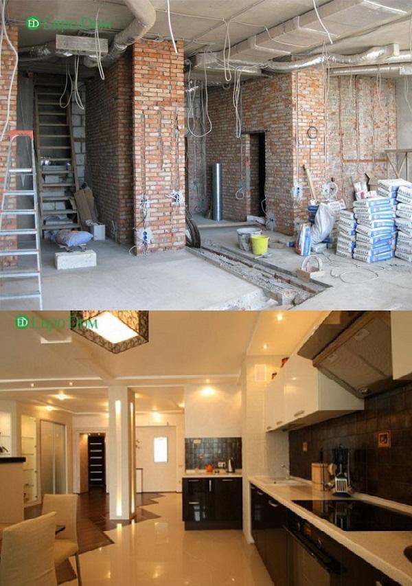Дизайн коттеджей фото внутри «до» и «после» ремонта