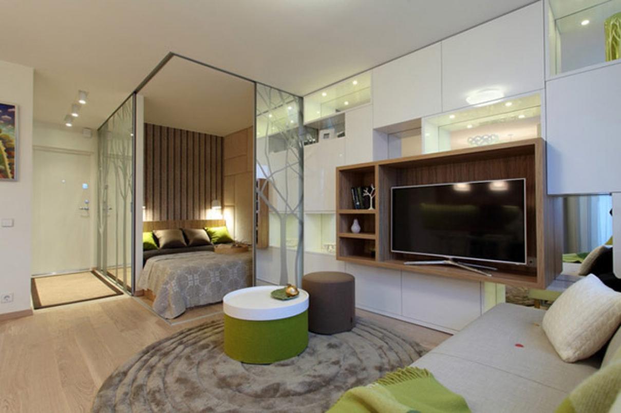 Стиль минимализм в дизайне однокомнатной квартиры