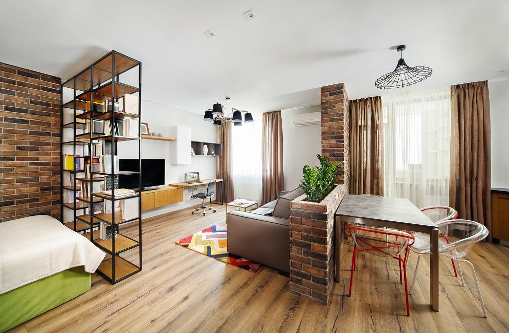 Ремонт однокомнатной квартиры в стиле лофт