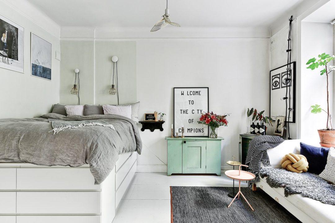 Однокомнатная квартира в белом цвете