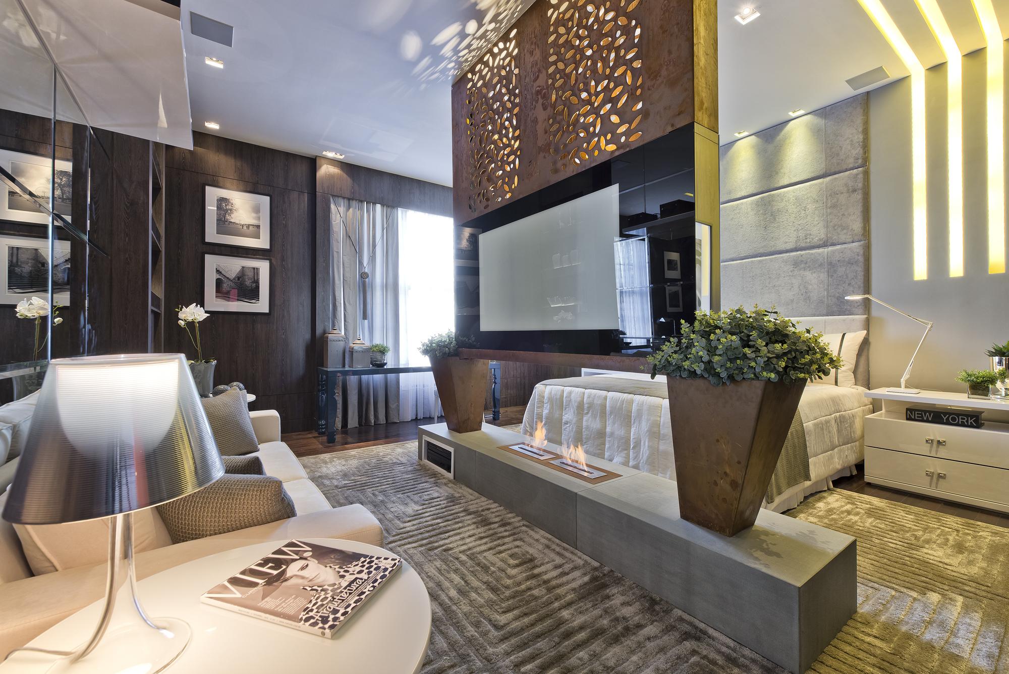 Дизайн интерьера гостиной в коричневом цвете