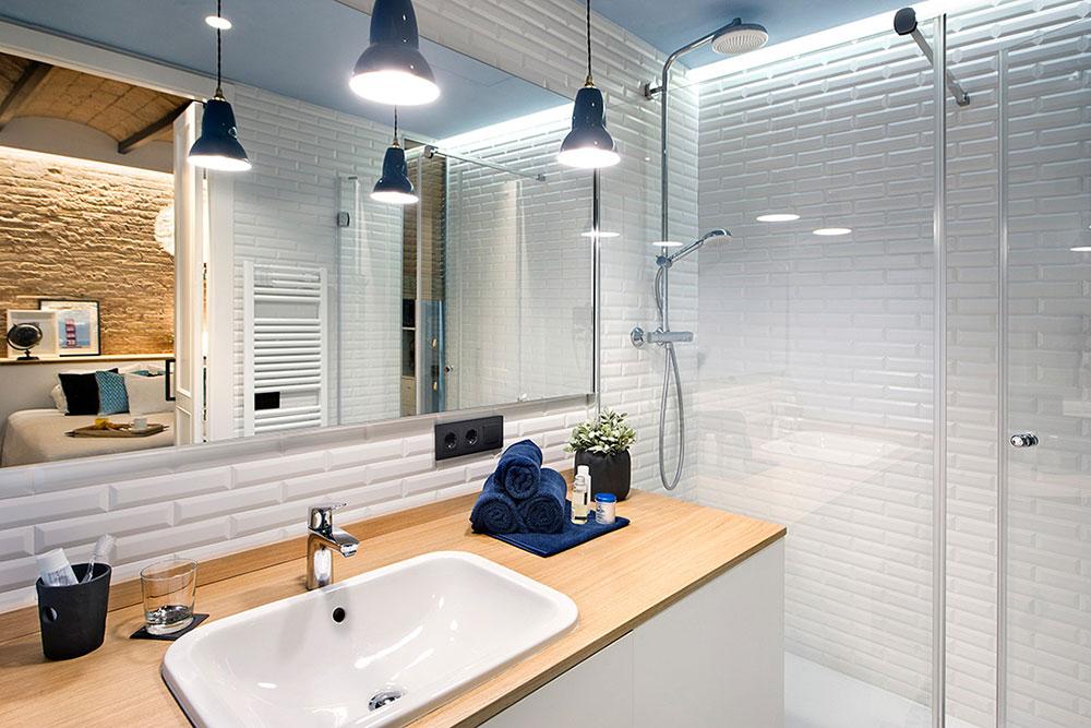 Ванная в современном стиле лофт