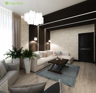 Дизайн двухкомнатной квартиры 74 кв. м в современном стиле. Фото проекта
