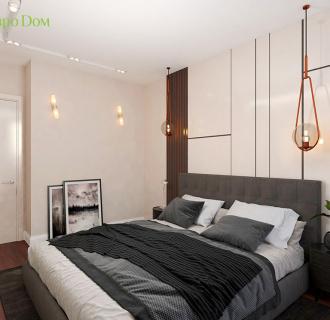 Дизайн двухкомнатной квартиры 70 кв. м в современном стиле. Фото проекта