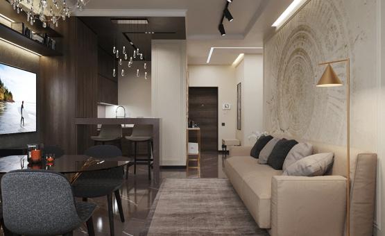 Дизайн интерьера 2-комнатной квартиры 64 кв.м. по адресу г. Москва, Серпуховский вал, д. 3. Фото 1