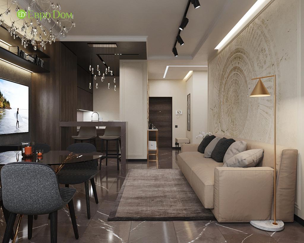 Дизайн 2-комнатной квартиры 64 кв. м в стиле ар-деко. Фото 02