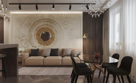 Дизайн интерьера 2-комнатной квартиры 64 кв.м. по адресу г. Москва, Серпуховский вал, д. 3. Фото 2