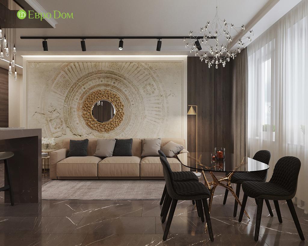 Дизайн 2-комнатной квартиры 64 кв. м в стиле ар-деко. Фото 04