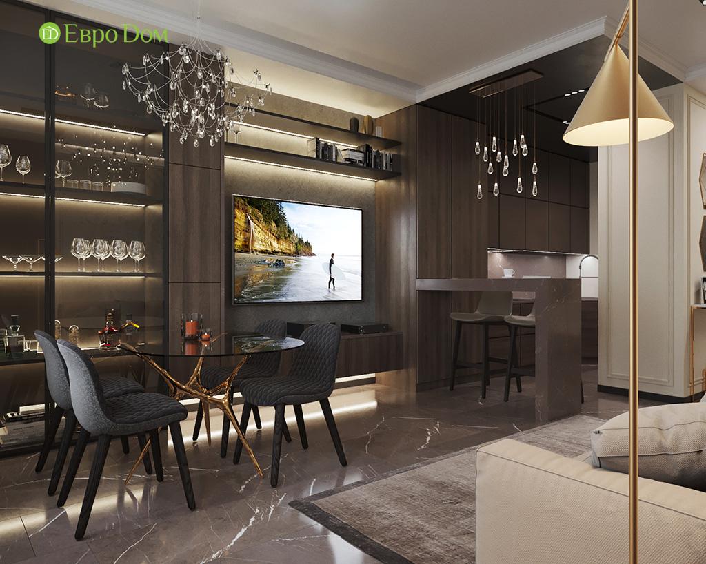 Дизайн 2-комнатной квартиры 64 кв. м в стиле ар-деко. Фото 05