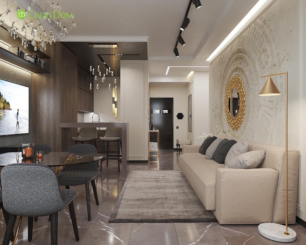Дизайн 2-комнатной квартиры 64 кв. м в стиле ар-деко. Фото 06