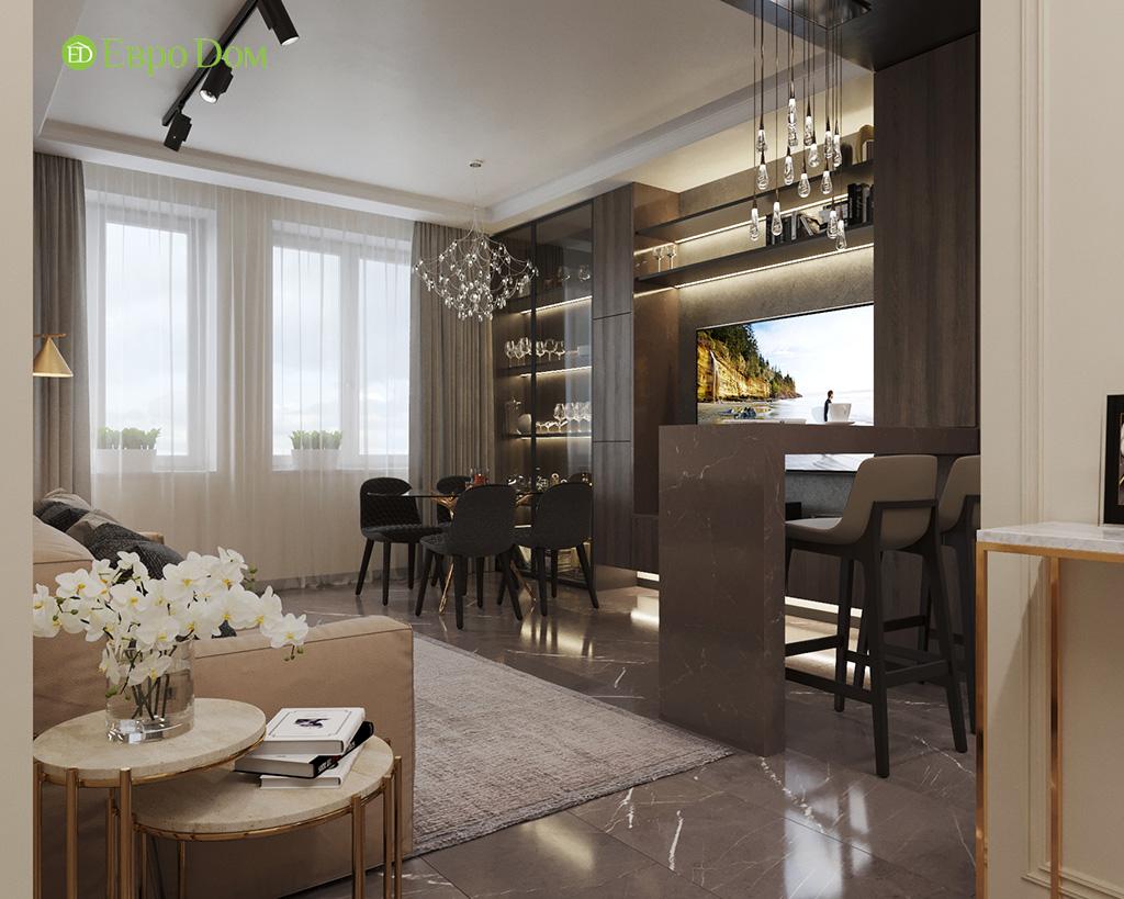 Дизайн 2-комнатной квартиры 64 кв. м в стиле ар-деко. Фото 07