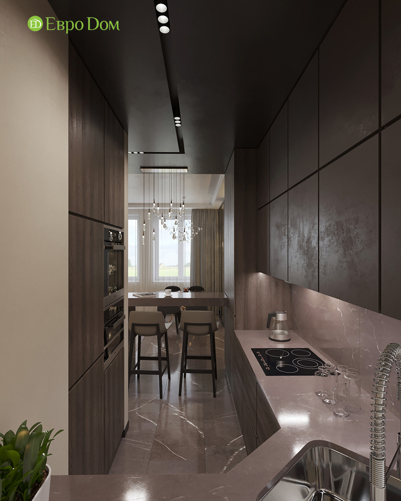 Дизайн 2-комнатной квартиры 64 кв. м в стиле ар-деко. Фото 09