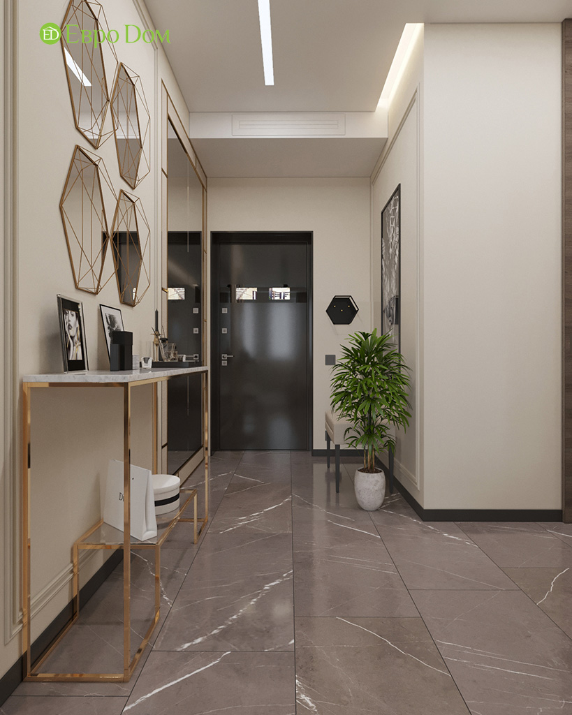 Дизайн 2-комнатной квартиры 64 кв. м в стиле ар-деко. Фото 010