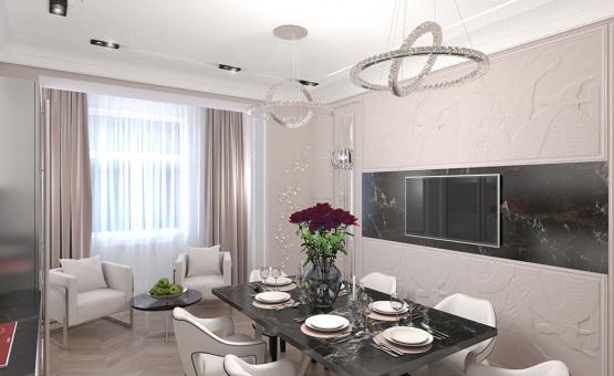 Дизайн интерьера четырехкомнатной квартиры 209 кв.м. по адресу г. Махачкала. Фото 4