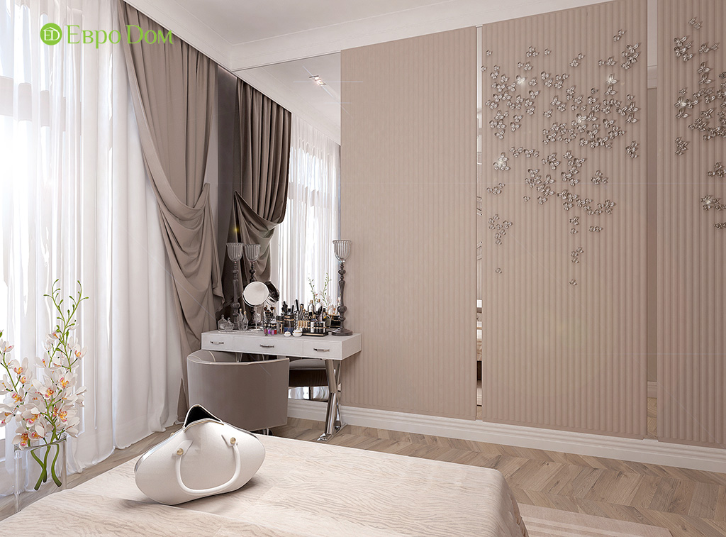 Дизайн 4-комнатной квартиры в стиле ар-деко. Фото 09