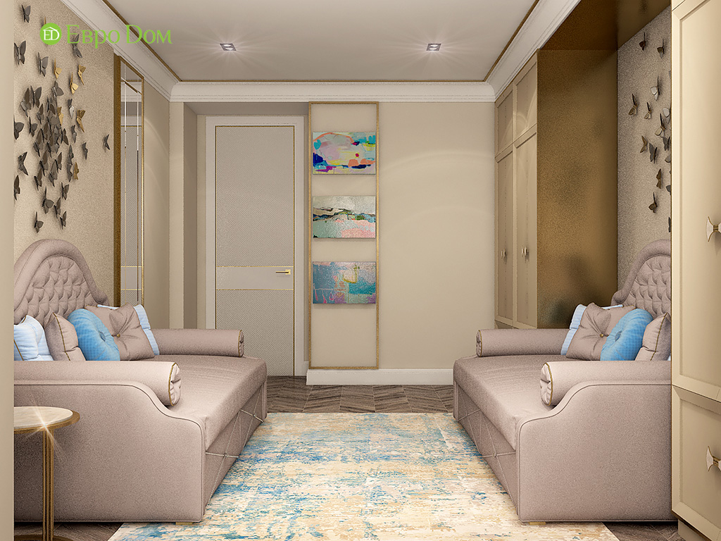 Дизайн 4-комнатной квартиры в стиле ар-деко. Фото 029