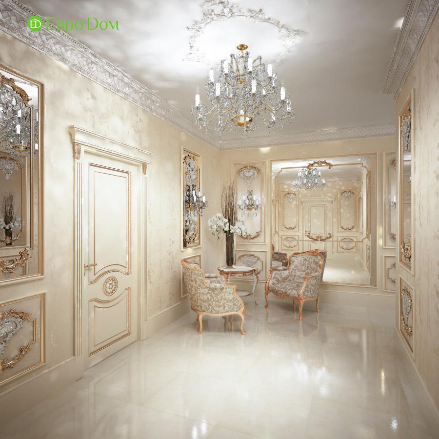 Дизайн интерьера коттеджа 251 кв. м в стиле барокко. Фото 02