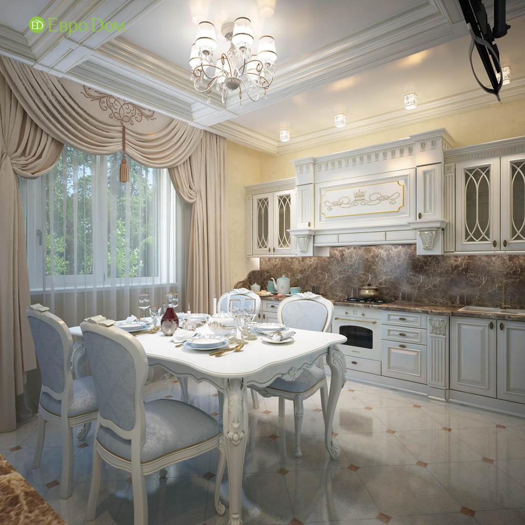 Дизайн интерьера коттеджа 251 кв. м в стиле барокко. Фото 04