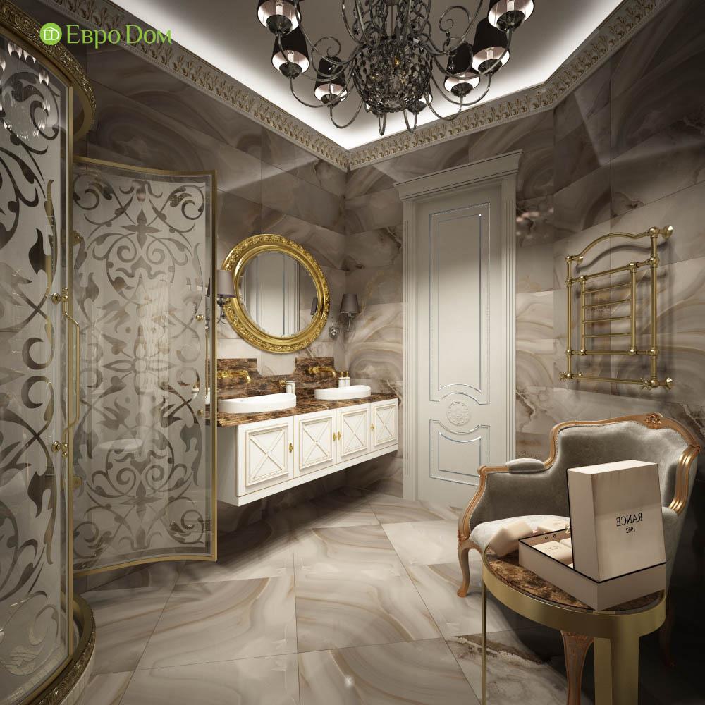 Дизайн интерьера коттеджа 251 кв. м в стиле барокко. Фото 07