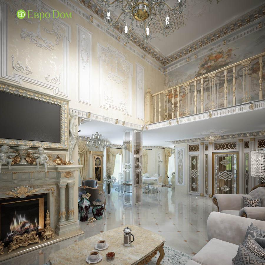 Дизайн интерьера коттеджа 251 кв. м в стиле барокко. Фото 09