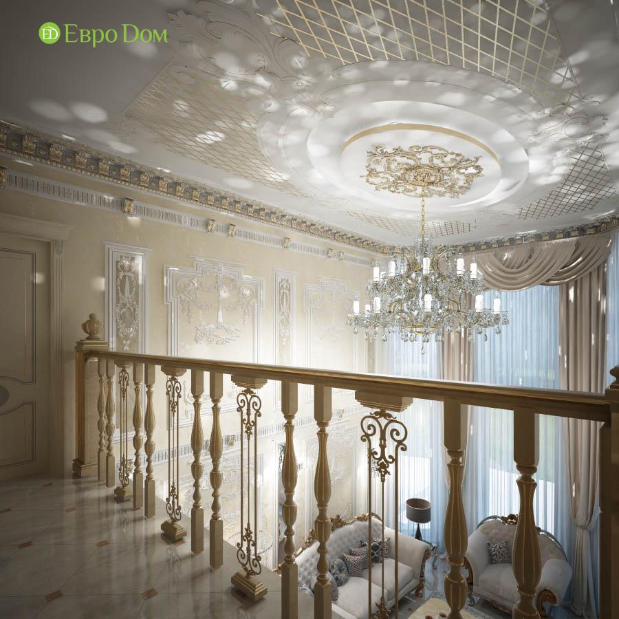 Дизайн интерьера коттеджа 251 кв. м в стиле барокко. Фото 011