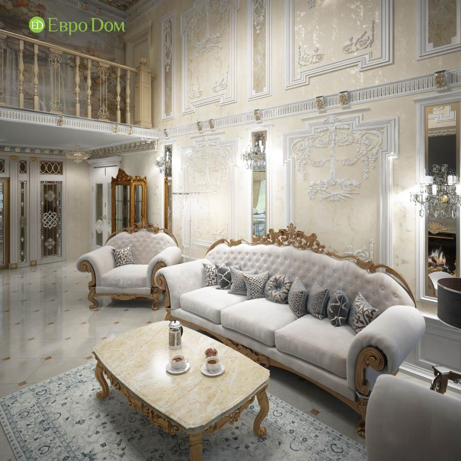 Дизайн интерьера коттеджа 251 кв. м в стиле барокко. Фото 012