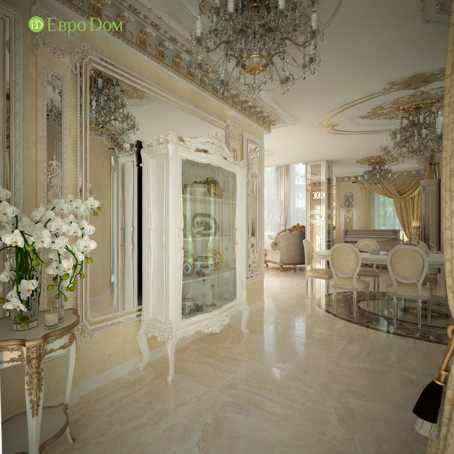 Дизайн интерьера коттеджа 251 кв. м в стиле барокко. Фото 013