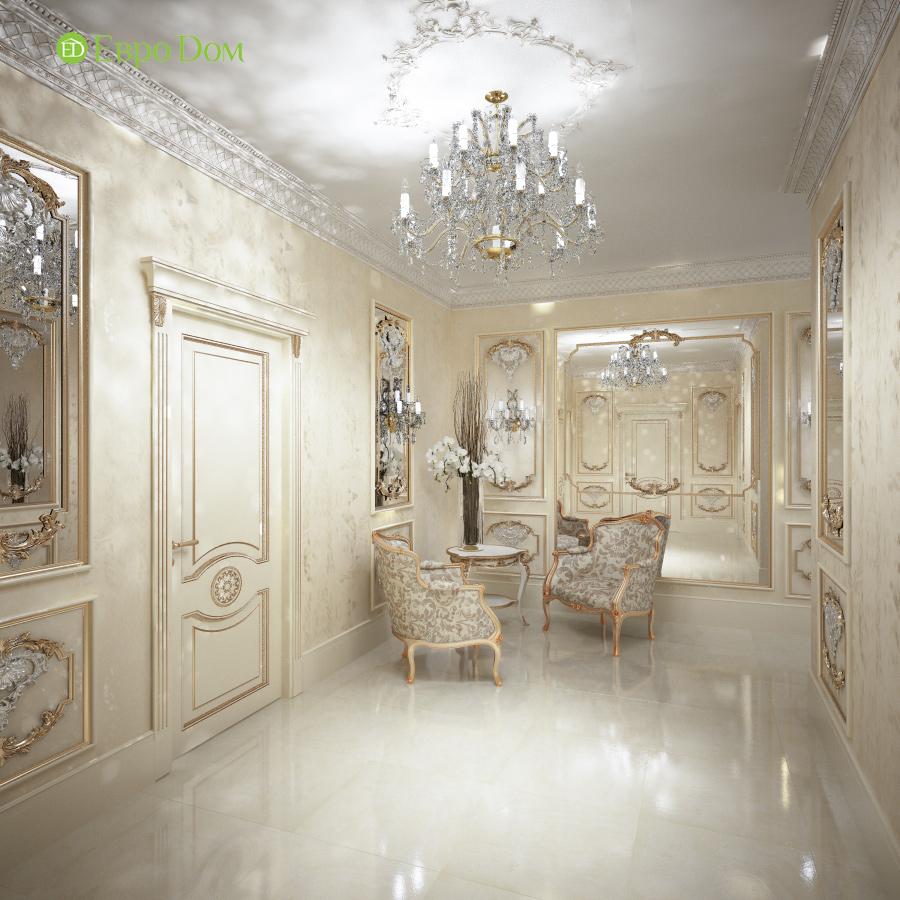 Дизайн интерьера коттеджа 251 кв. м в стиле барокко. Фото 014
