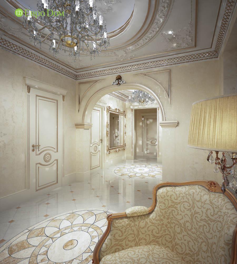 Дизайн интерьера коттеджа 251 кв. м в стиле барокко. Фото 016