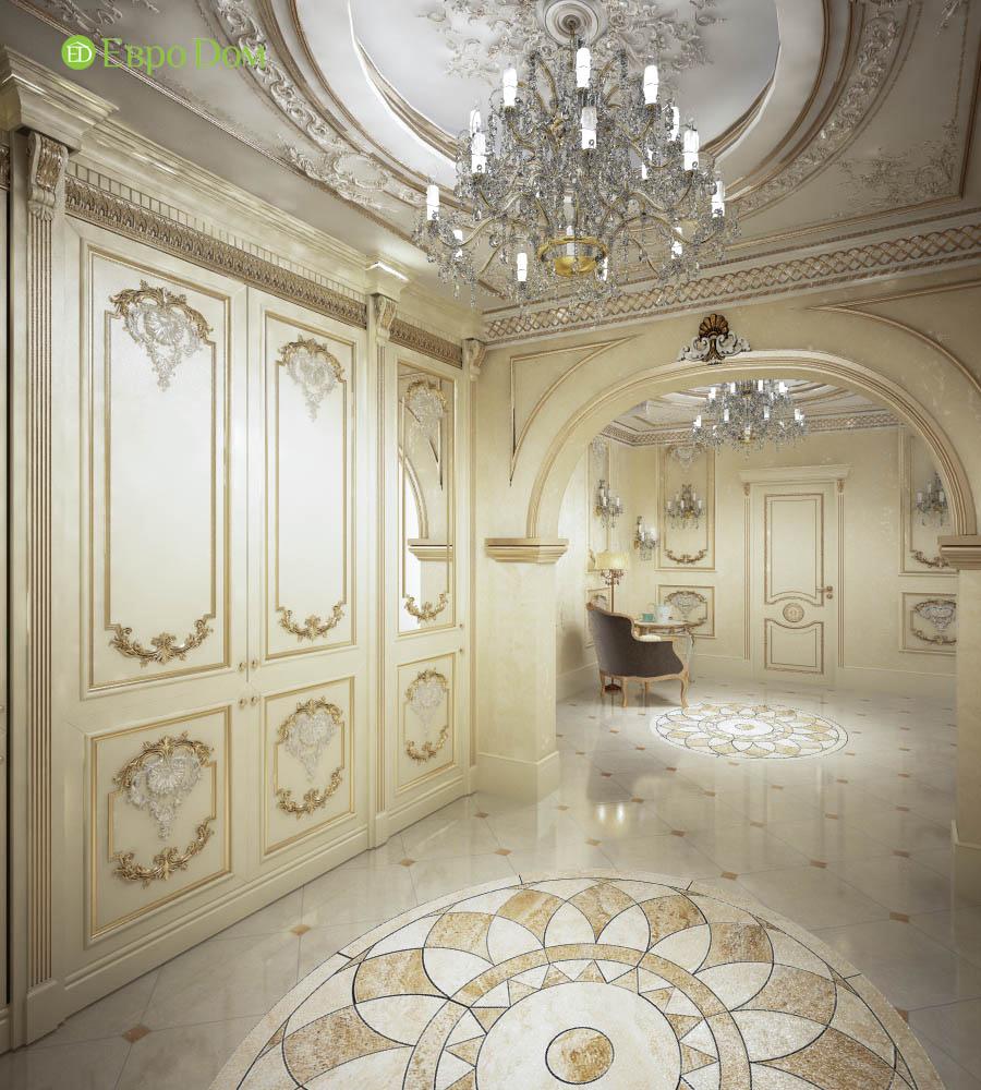 Дизайн интерьера коттеджа 251 кв. м в стиле барокко. Фото 017