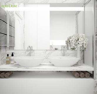 Дизайн трехкомнатной квартиры 88 кв. м в современном стиле. Фото проекта
