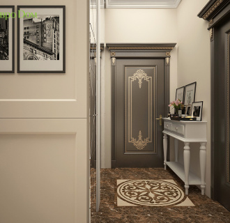 Дизайн трехкомнатной квартиры 109 кв. м в стиле неоклассика. Фото проекта