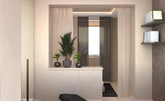 Дизайн интерьера 1-комнатной квартиры 41 кв.м. по адресу г. Красногорск, ул. Истринская, 13А. Фото 1
