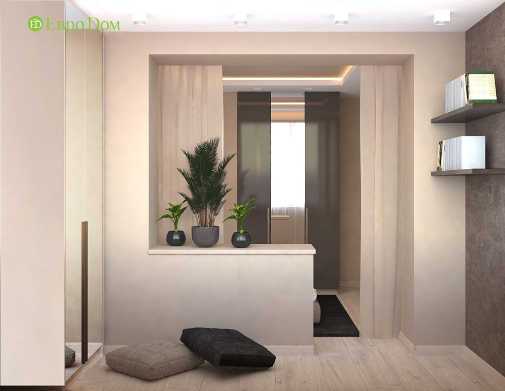 Дизайн 1-комнатной квартиры 41 кв. м в современном стиле. Фото 02