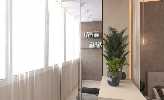 Дизайн интерьера 1-комнатной квартиры 41 кв.м. по адресу г. Красногорск, ул. Истринская, 13А. Фото 2