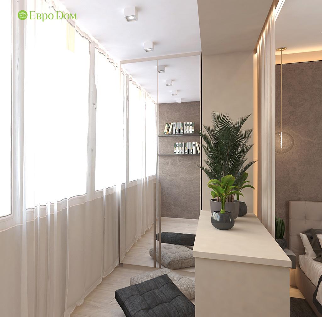 Дизайн 1-комнатной квартиры 41 кв. м в современном стиле. Фото 03