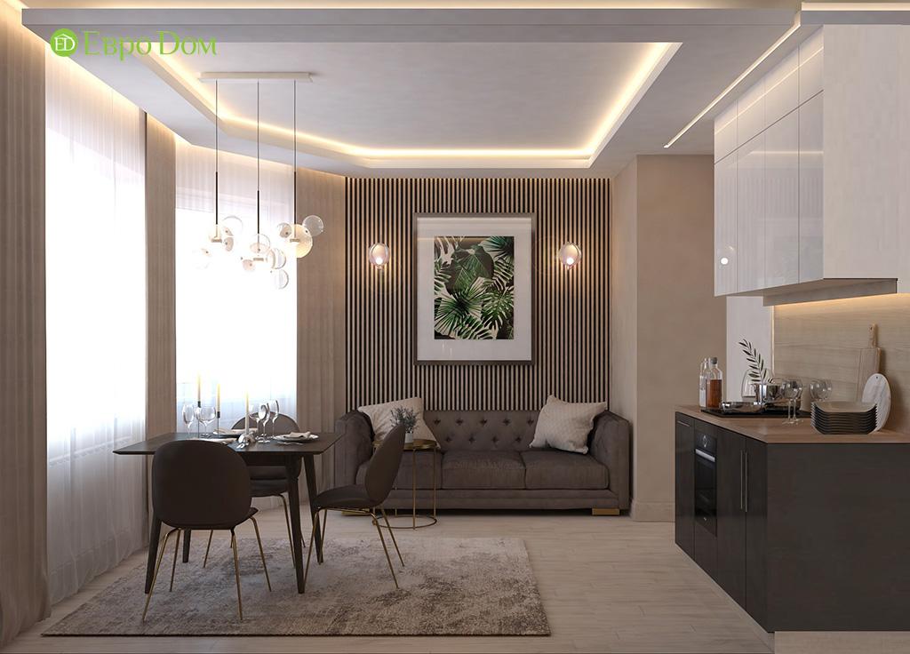 Дизайн 1-комнатной квартиры 41 кв. м в современном стиле. Фото 04