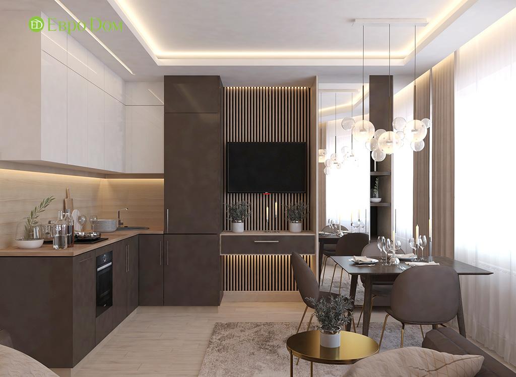Дизайн 1-комнатной квартиры 41 кв. м в современном стиле. Фото 05