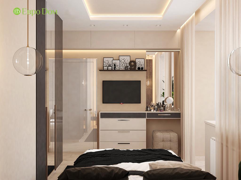 Дизайн 1-комнатной квартиры 41 кв. м в современном стиле. Фото 07
