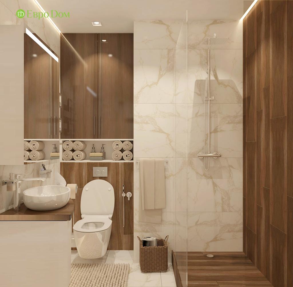 Дизайн 1-комнатной квартиры 41 кв. м в современном стиле. Фото 08