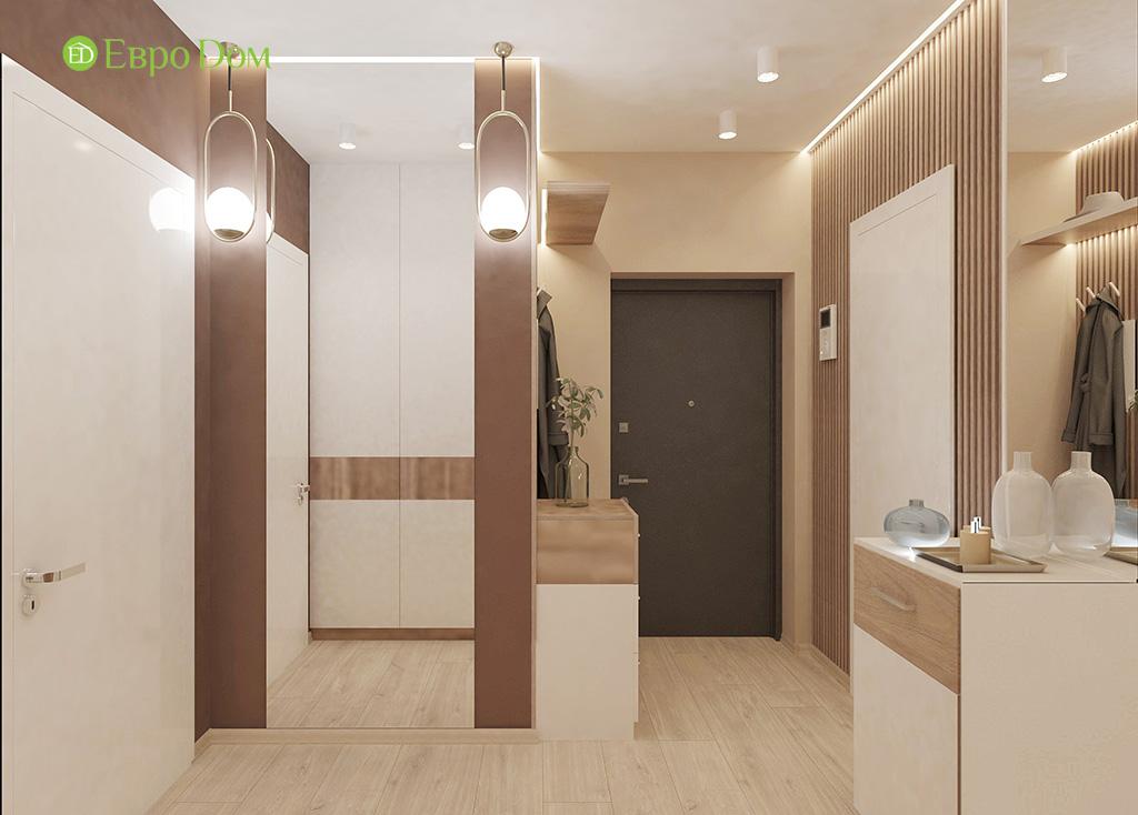 Дизайн 1-комнатной квартиры 41 кв. м в современном стиле. Фото 011