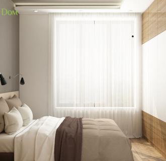 Дизайн двухкомнатной квартиры 45 кв. м в современном стиле. Фото проекта