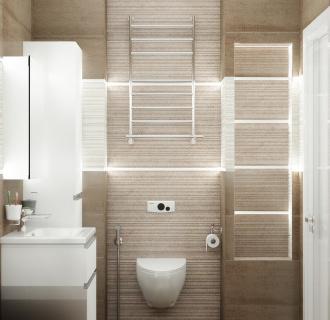 Дизайн двухкомнатной квартиры 52 кв. м в современном стиле. Фото проекта