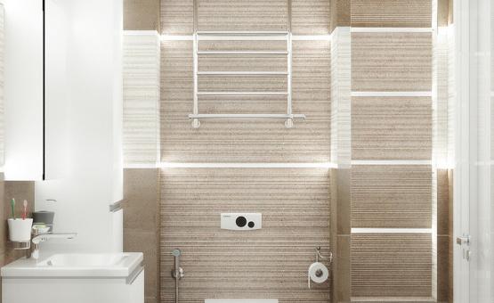 Дизайн интерьера 2-комнатной квартиры 52 кв.м. по адресу г. Москва, ул. Багрицкого, д. 10, к. 4. Фото 3