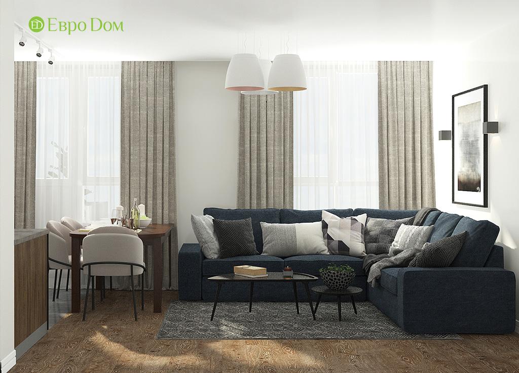 Дизайн 2-комнатной квартиры 52 кв. м в современном стиле. Фото 07
