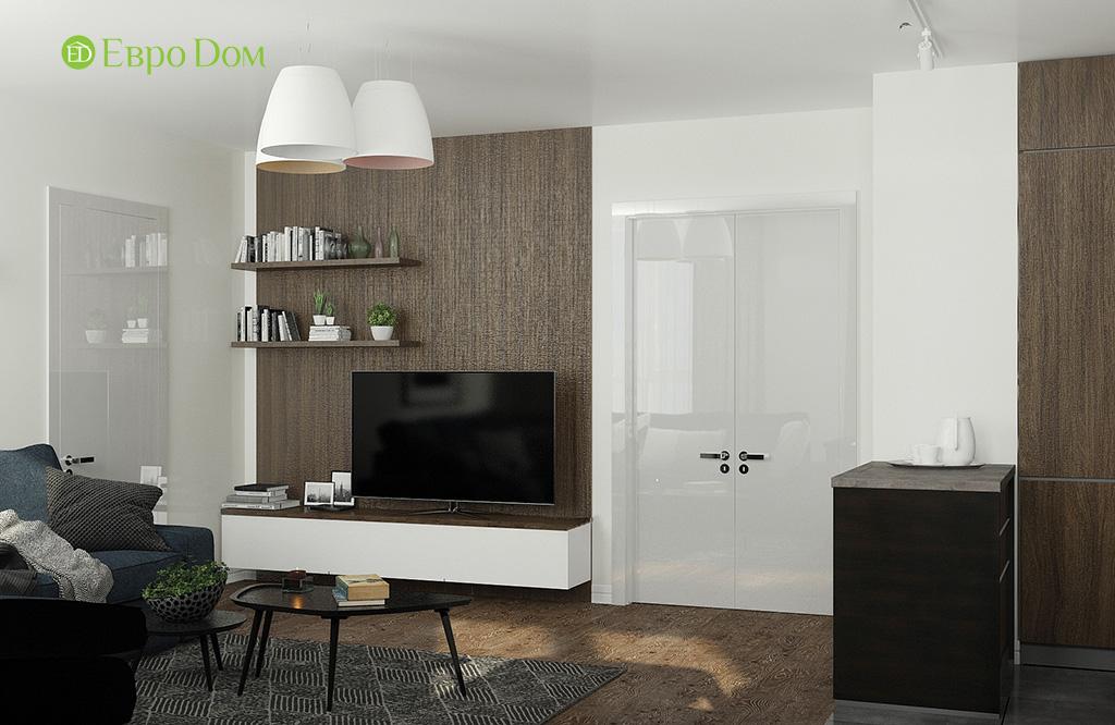 Дизайн 2-комнатной квартиры 52 кв. м в современном стиле. Фото 08