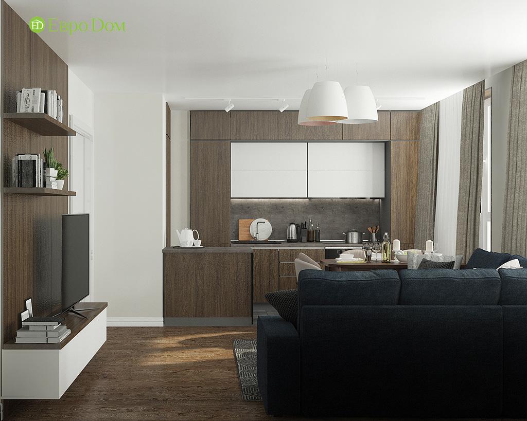 Дизайн 2-комнатной квартиры 52 кв. м в современном стиле. Фото 09