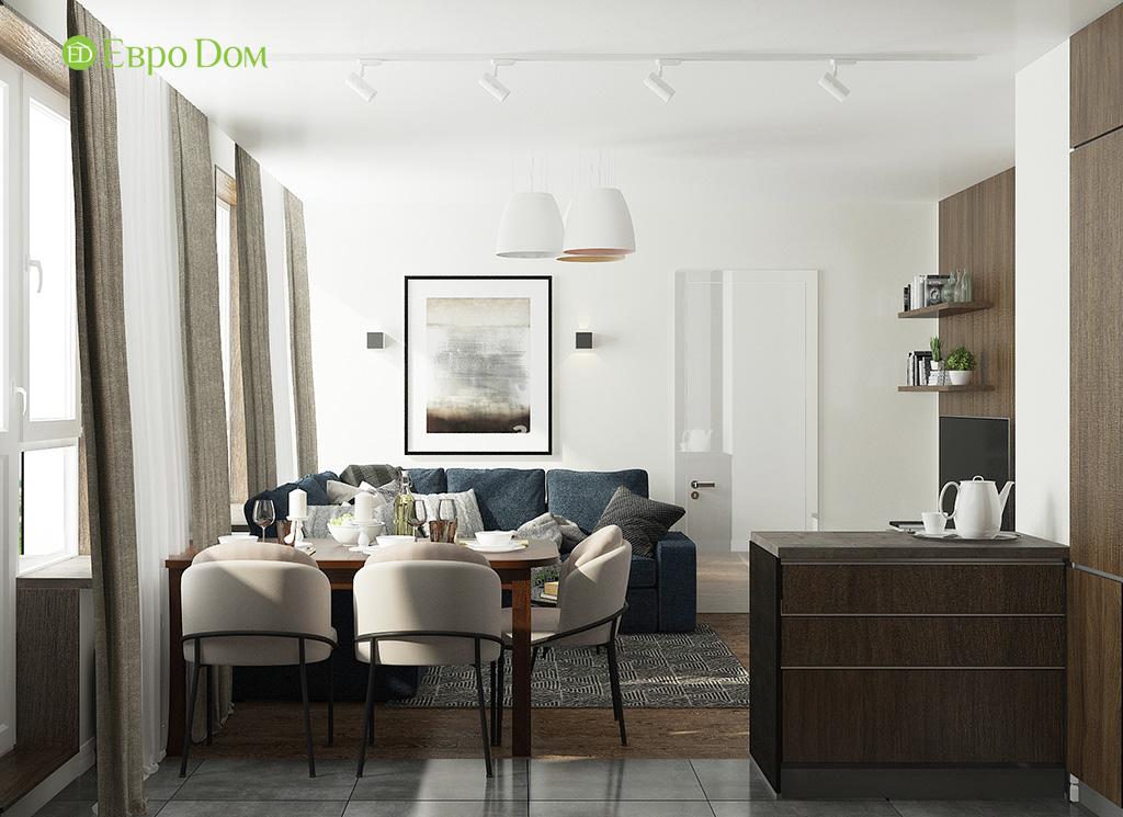 Дизайн 2-комнатной квартиры 52 кв. м в современном стиле. Фото 010