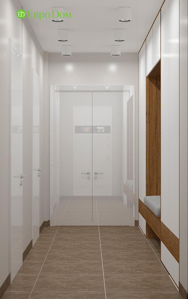 Дизайн 2-комнатной квартиры 52 кв. м в современном стиле. Фото 011